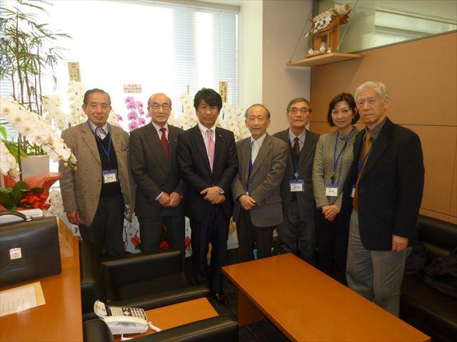 日肝協代表の田村前厚労大臣訪問